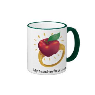 My teacher's a gem! ringer mug