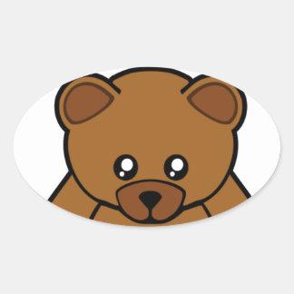 My Teddy Bear Oval Sticker