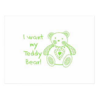 My Teddy Bear Postcard