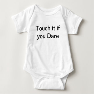 My teddybear infant clothes touch it if you dare infant creeper