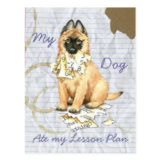 My Tervuren Ate My Lesson Plan Postcard