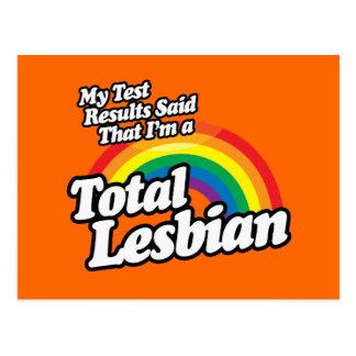 MY TEST RESULTS SAID LESBIAN POSTCARD