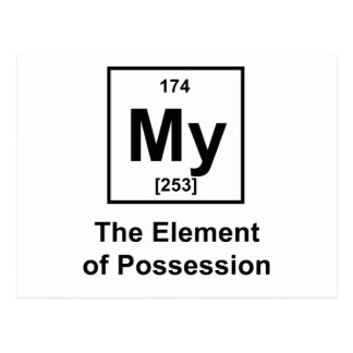 My, The Element of Possession Postcard