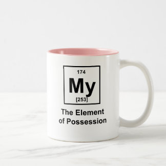 My, The Element of Possession Two-Tone Coffee Mug