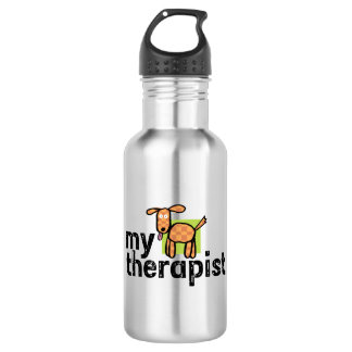 My Therapist Dog Stainless Steel Water Bottle