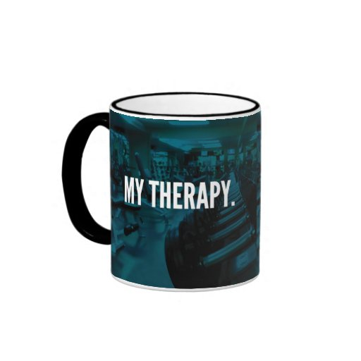 MY THERAPY - Bodybuilding Workout Motivational Ringer Mug