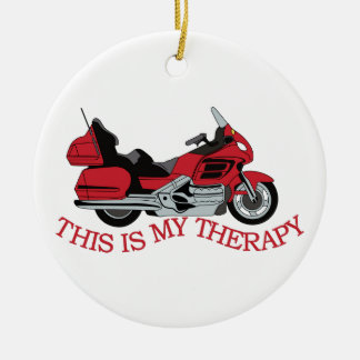 My Therapy Ceramic Ornament