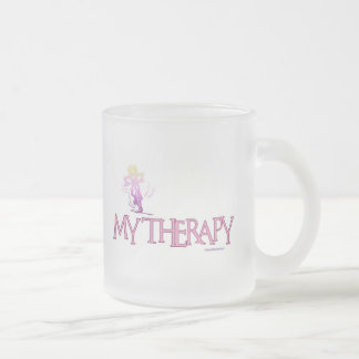 MY THERAPY 10 OZ FROSTED GLASS COFFEE MUG