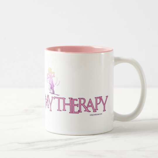 MY THERAPY Two-Tone COFFEE MUG