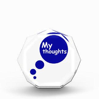 My Thoughts Acrylic Award