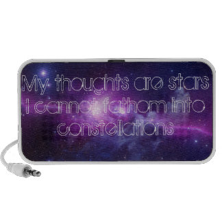 My Thoughts Are Stars Doodle PC Speakers