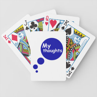 My Thoughts Bicycle Playing Cards