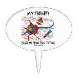 My Thoughts Escape Me Time To Time Neuron Synapse Cake Toppers