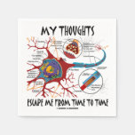 My Thoughts Escape Me Time To Time Neuron Synapse Standard Cocktail Napkin