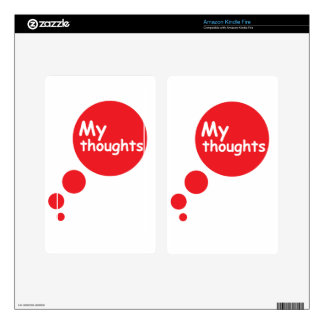 My Thoughts Kindle Fire Decals