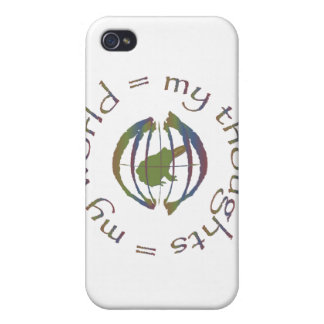 """""""My Thoughts = My World"""" iPhone 4 Covers"""