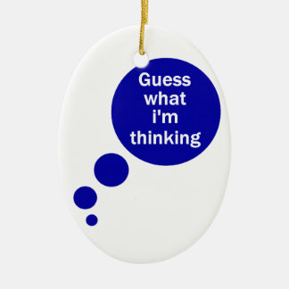 My Thoughts Christmas Tree Ornament