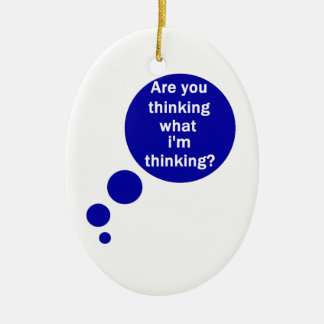 My Thoughts Christmas Ornaments