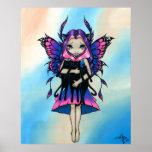 My Three Kitties fairy black cat Art Print