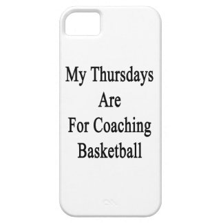My Thursdays Are For Coaching Basketball iPhone SE/5/5s Case