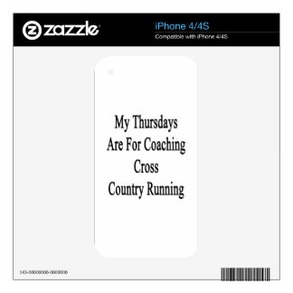 My Thursdays Are For Coaching Cross Country Runnin Skin For iPhone 4S