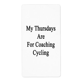 My Thursdays Are For Coaching Cycling Label