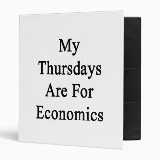 My Thursdays Are For Economics Binder