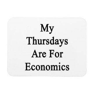 My Thursdays Are For Economics Rectangular Photo Magnet