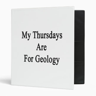My Thursdays Are For Geology Vinyl Binders