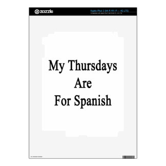 My Thursdays Are For Spanish iPad 3 Decals