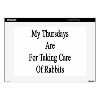 My Thursdays Are For Taking Care Of Rabbits Decals For Laptops