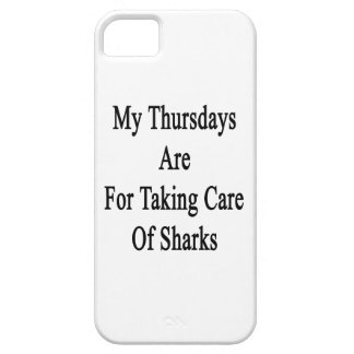 My Thursdays Are For Taking Care Of Sharks iPhone 5 Cases