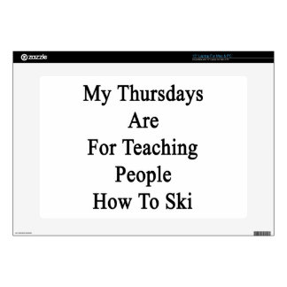 My Thursdays Are For Teaching People How To Ski Decals For Laptops