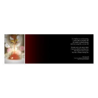 'My time is already running late' poetry bookmark Mini Business Card