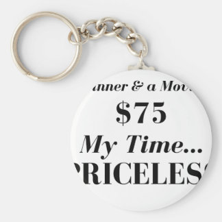 My time priceless keychain