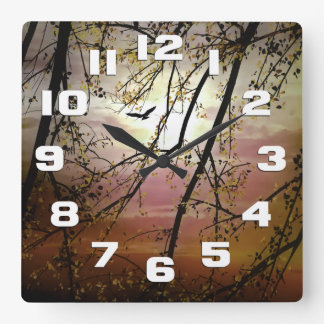 My Time To Fly Square Wall Clock