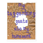 My Toggenburg Goats Ate My Homework Post Cards
