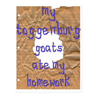 My Toggenburg Goats Ate My Homework Postcard