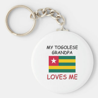My Togolese Grandpa Loves Me Keychains