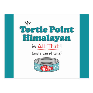 My Tortie Point Himalayan is All That! Funny Kitty Postcard