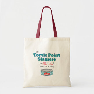 My Tortie Point Siamese is All That! Funny Kitty Tote Bag