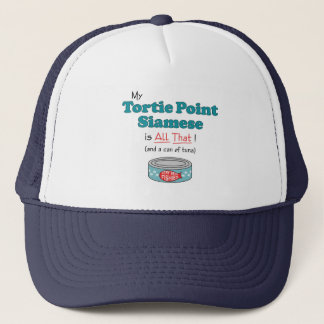 My Tortie Point Siamese is All That! Funny Kitty Trucker Hat