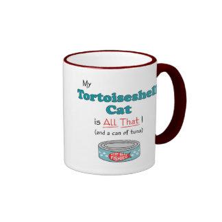 My Tortoiseshell Cat is All That! Funny Kitty Ringer Coffee Mug