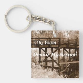 My Town - Dennis Mississippi Keychain