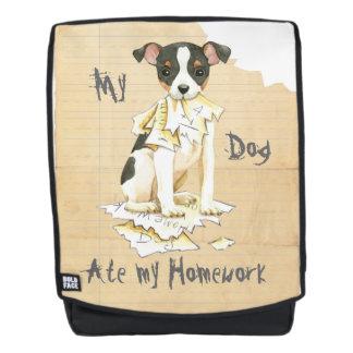 My Toy Fox Terrier Ate My Homework Backpack
