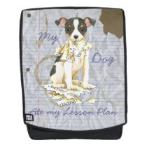 My Toy Fox Terrier Ate my Lesson Plan Backpack