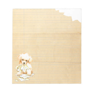 My Toy Poodle Ate My Homework Notepad