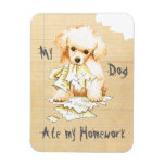 My Toy Poodle Ate My Homework Rectangular Photo Magnet