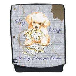 My Toy Poodle Ate my Lesson Plan Backpack