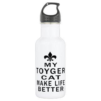 My Toyger Cat Make Life Better 18oz Water Bottle